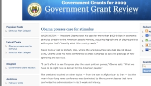 poorly used flog for gov grants aff site--scraped content, unauthoritative