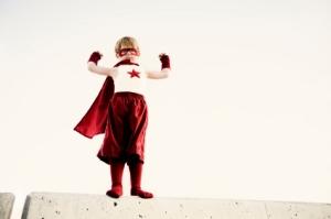 small (but powerful) superhero