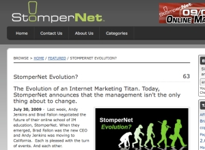 stompernet blog uses press release to announce major news