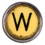 "letter ""w"" old typewriter key"