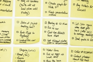 yellow post-it notes with to-do lists