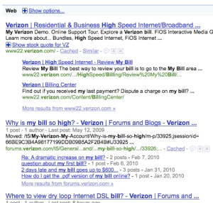 google search results illustrating integrated forum content