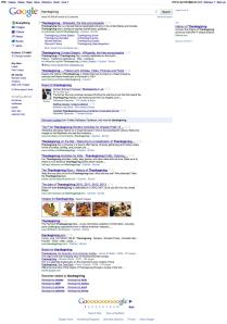 example of Google search page with various types of results