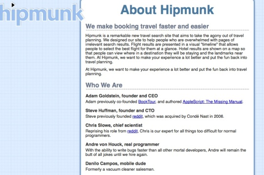 hipmunk's example About text
