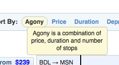 "hipmunk.com's ""agony"" sort filter"
