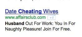 AdWords headline as an example of an effective web headline