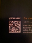 Asus Computer QR code and call to action