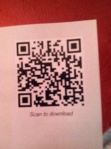 Chase QR code and call to action