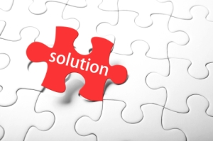 "missing piece of puzzle is ""solution"""