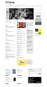 Frieze Magazine - example of a very nice magazine style webpage template
