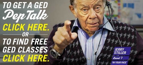landing page for yourged.org with jerry stiller