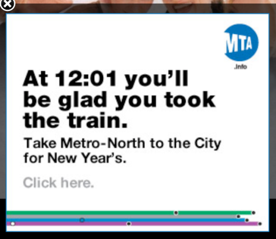 Metro North ad