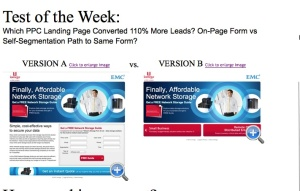 a/b testing site screenshot