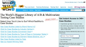 a/b testing site screenshot - Word Bang blog