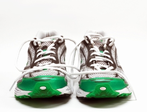 running shoes as concept for getting content moving with marketing