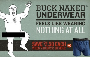 duluth trading company's buck naked underwear ad